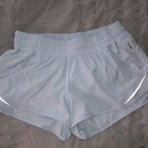 Lululemon light blue size 6 hotty hot shorts!